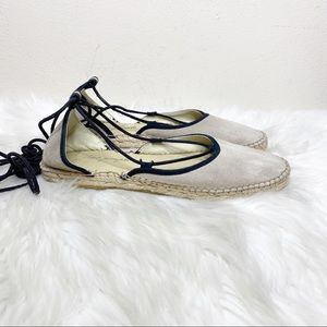 Free People Leather Suede Espadrille Shoes 39
